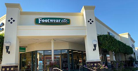 Cupertino California Footwear etc. Location