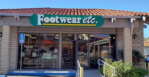 San Diego California Rancho Bernardo Footwear etc. Location