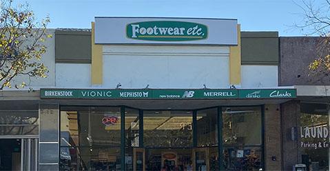 San Carlos California Footwear etc. Location