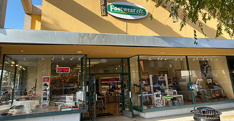 San Mateo California Footwear etc. Location