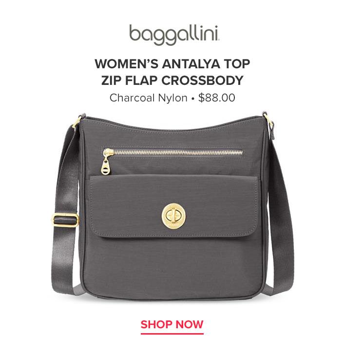 Baggallini Women's Antalya Top Zip Flap Crossbody