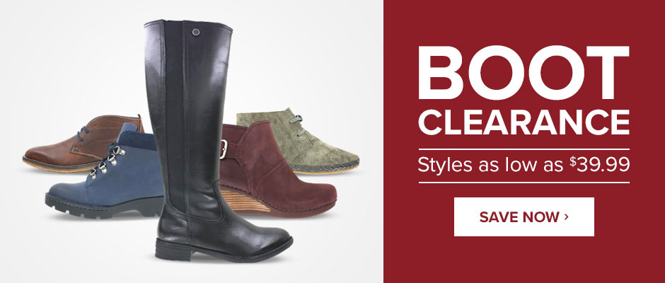 Boot Clearance: Styles as low as $39.99