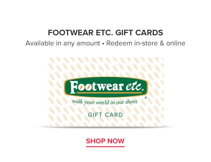Footwear etc. Gift Cards