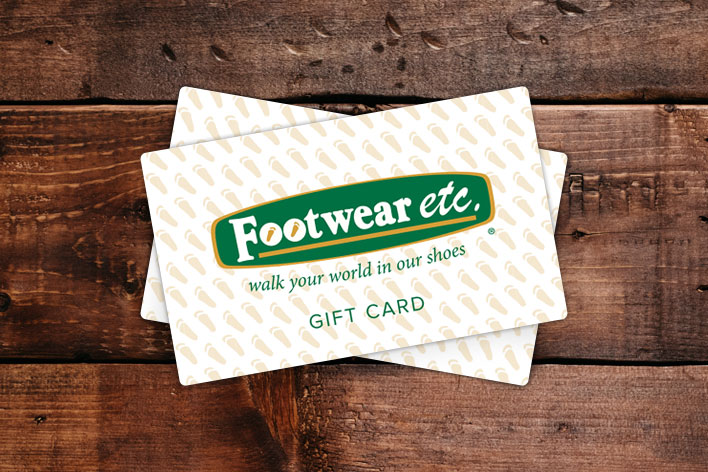 Footwear etc. Gift Card • Available in any amount