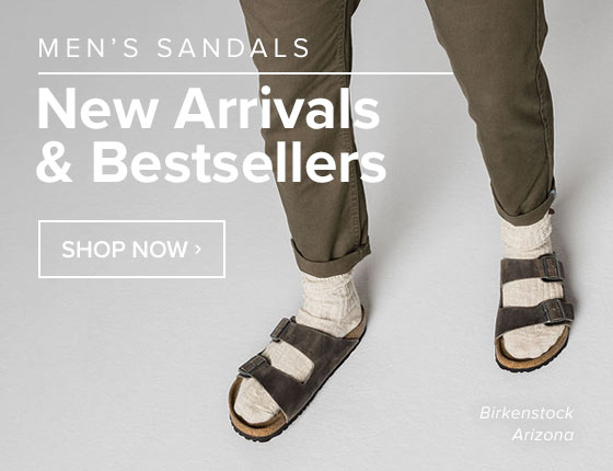 Men's Sandals: New Arrivals and Bestsellers