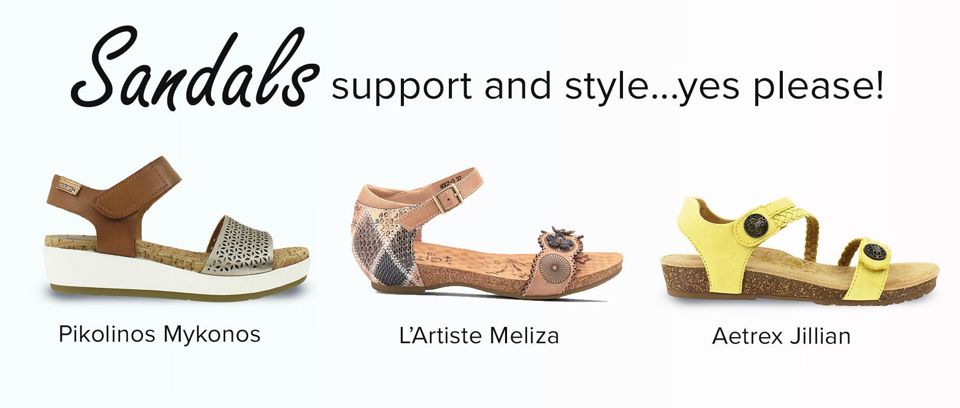 Supportive and Stylish Sandals