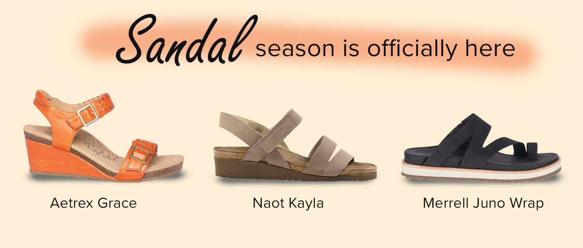 Sandal season is here