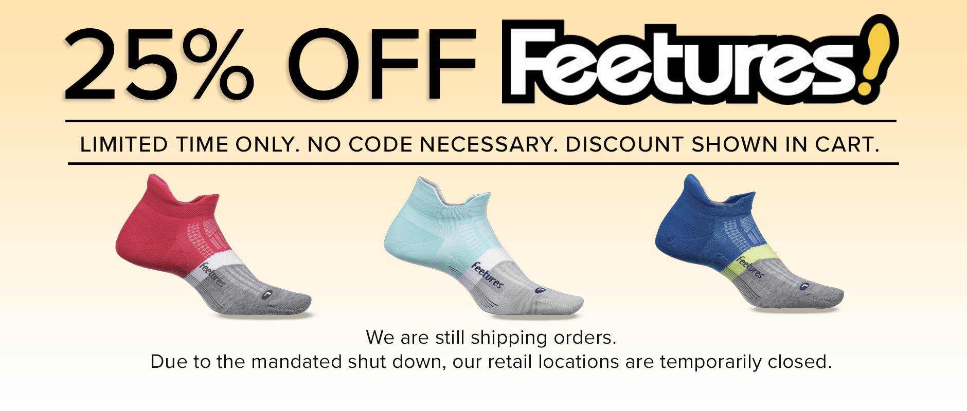 Feetures 25% off Sale